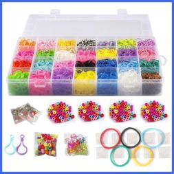 10 000 Rubber Bands Refill Pack Colorful Loom Kit Organizer