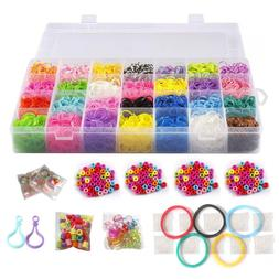 10,000 Rubber Bands Refill Pack Colorful Loom Kit Organizer