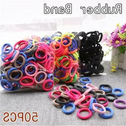 10 50pcs candy color ponytail holder hair