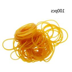 100 PCS/Bag High Quality Office Rubber Ring Rubber Bands Sch