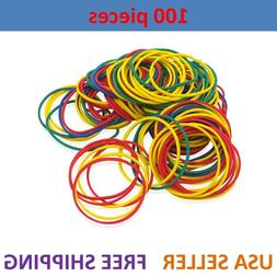 100 PCS Medium Hair Braid Rubber Bands Multi Color Mixed Pon