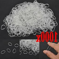 1000PCS Elastic Hair Bands Braiding Rubber Band Tiny Poly Sm
