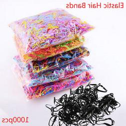 1000pcs TPU Band Hair Accessories for Women Children Rubber