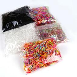 1000x Mini Clear Elastic Hair Rubber Bands Braiding Small Br