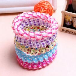 10Pcs Women High Quality Telephone Wire Elastic Rubber Bands