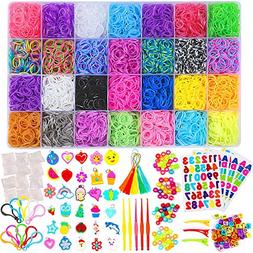 Inscraft 11750+ Rainbow Rubber Bands Refill Kit, 11,000 Loom