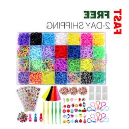 12000 rubber band refill set beads clips