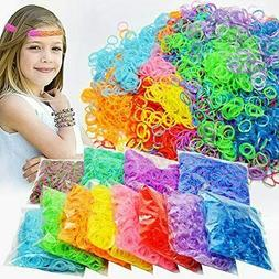 14,000 Rubber Bands Refill Kit 28 Colors Bracelet Making Kit