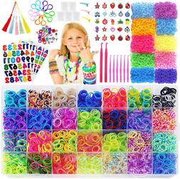 15,000 Rainbow Rubber Bands Refill Kit 56 Colors Kids Girls