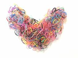 Timemorry 1600+ Colorful Elastic Hair Bands Hair Ties Rubber