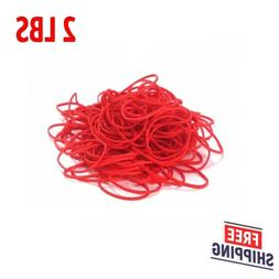 """3600 Rubber Bands Size #16 Red Colored 2 1/2"""" x 1/16"""" Bulk N"""