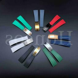 20MM SILICONE RUBBER WATCH STRAP BAND FOR ROLEX DATEJUST DAY
