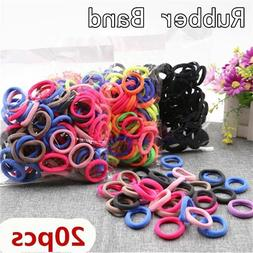 20/50Pcs Kid Girl Colorful Elastic Hair Band Headwear Rubber