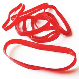 20 Pack of LARGE RED RUBBER BANDS for Fishing | Size #64 | U