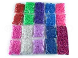 20,000 Piece Loom Band Refill Kit - Mega Refill Pack - 10 Co