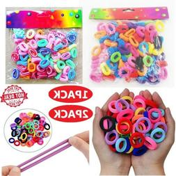 200pcs Elastic Hair Bands Ties Girl Small Size Rubber Band P