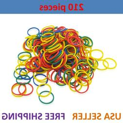 210pcs Small Elastic Hair Braid Rubber Bands Multi Color Mix