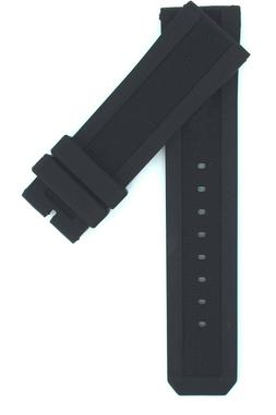 23mm Black High Quality Rubber Watch Strap Band For Burberry