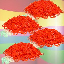 2400 PK Loom Refill Rubber Bands & S-Clips All ORANGE ~More