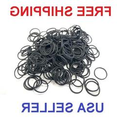 250-500 Small Black Rubber Bands for Crafts Hobbies Pony Hai