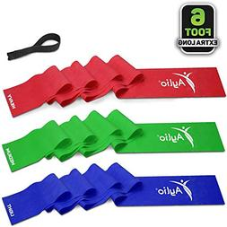 6 Feet Long Exercise Therapy Bands with Door Anchor | Up to