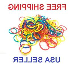 600 pcs SMALL HAIR BRAID RUBBER BANDS MULTI COLOR MIXED PONY