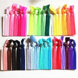 30Pcs Girl Elastic Hair Ties Rubber Band Knotted Hairband Po
