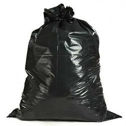 Plasticplace 42 Gallon Contractor Bags with Flaps - Black, c