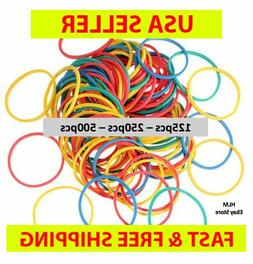 50 - 500 PCS SMALL HAIR BRAID RUBBER BANDS MULTI COLOR MIXED