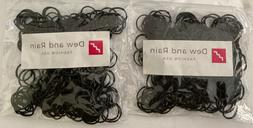 500 Small Black Rubber Bands for Crafts Hobbies Pony Hair Ho