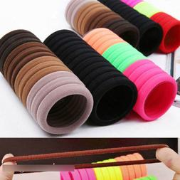 50Pcs Kids Girl Lady Elastic Rubber Hair Bands Ponytail Hold