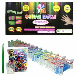 5400 PCS Colorful Rainbow Rubber Loom Bands Bracelet Making
