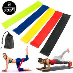 5pcs Resistance Loop Band Exercise Yoga Bands Rubber Fitness