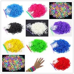 600x Elastic Rainbow Loom Refill Bands DIY Braided Rubber Ba