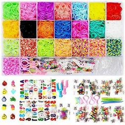 7600+ Rainbow Rubber Bands Loom Rubber Bands Set Includes: 6