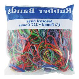 Lot of 5 - Assorted Rubber Bands 1/2 Pound 227 Grams Multi C