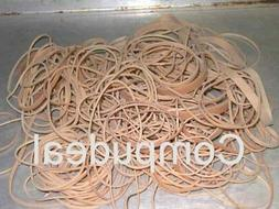 Assorted Rubber bands Beige Color,1 LOT, Sizes Vary, abt. 3
