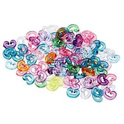 ETHAHE Pack of 100pcs Multicolor Colorful Loom Rubber Bands