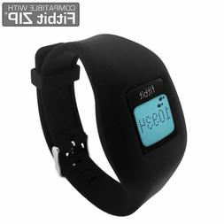 Fitbit Zip Replacement Band with Chrome Watch Clasp Accessor