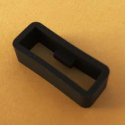 High Quality BLACK Silicone Rubber Watch Band Strap Loop Loc