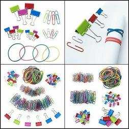 Mr. Pen- Assorted Colored Binder Clips, Paper Clips, Rubber