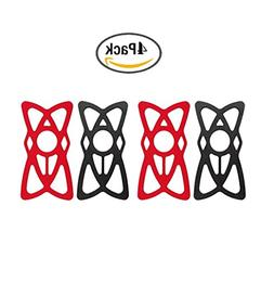 Pack of 4,Wellci Replacement Rubber/Silicone Bands for Unive