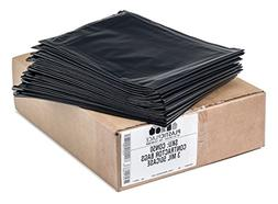 Plasticplace Black Contractor Bags, 42 Gallon, 33x48, 3.0 Mi