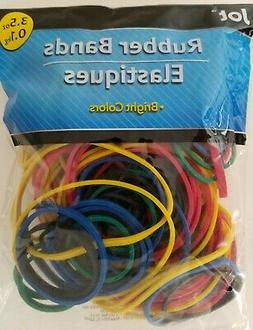 RUBBER BANDS Assorted Sizes 3.5 oz Bag