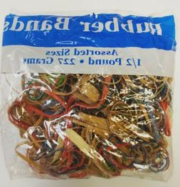 Rubber Bands Multi Color Size Half Pound 1/2 Pound 465 Count
