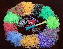 Specialty Loom Band Refill Kit - 3600 Quality Bands - Stripe
