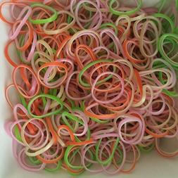 Tropical Mix Rubber Bands Refill - 600 Bands & 24 C-Clips fr