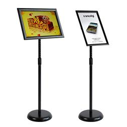 Adjustable Pedestal Poster Stand ,Sign Holder with Telescopi