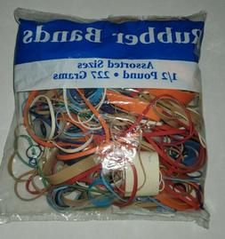 Assorted Dimensions 227g/ 0.5 Lbs. Rubber Bands  by Bazic