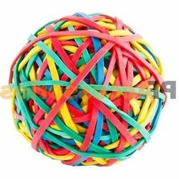 240 Ct Assorted Color Rubber Band Ball 5.3 ounces for Office